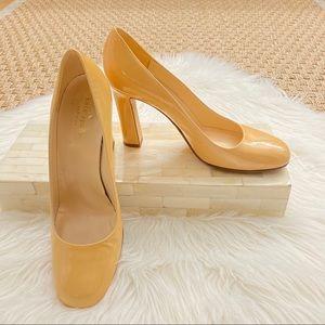 Kate Spade Nude Round Toe Block Heel Pump Heel 9